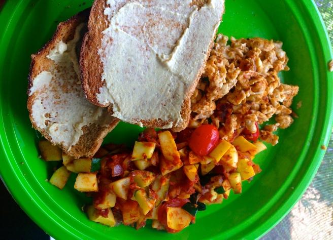 spicy vegetabel egg scramble