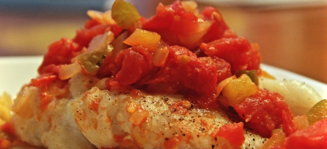 Cod Creole Recipe Peppers Onion Tomato