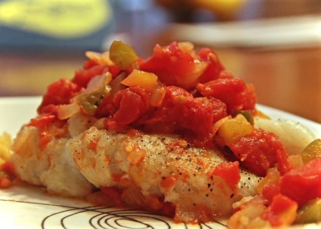 Cod Creole Recipe Peppers Onion Tomato