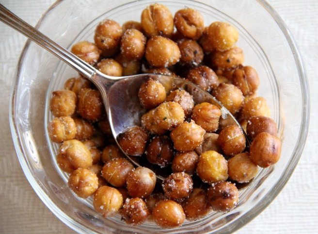 garlic roasted chickpeas