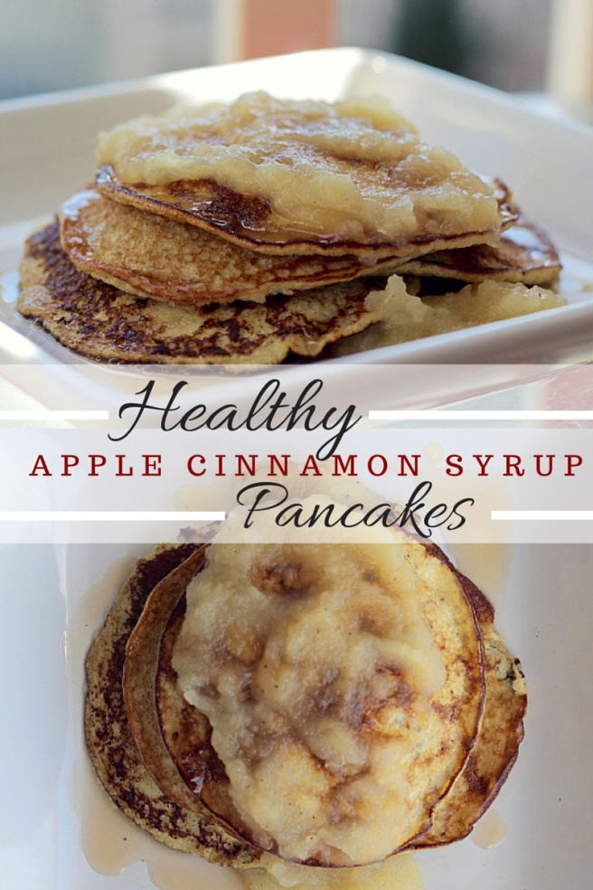 Healthy Apple Cinnamon Pancakes