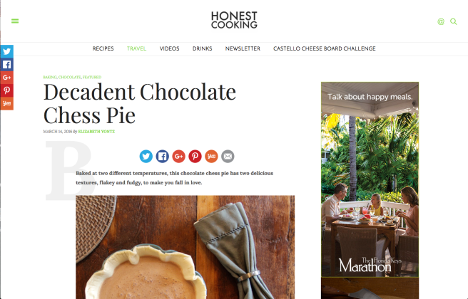Featured Blog Post in Honest Cooking Magazine
